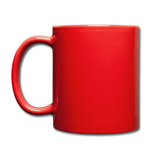 """Full Colour Mug """"bLoops Puzzle"""" (printed white and green shadow)"""