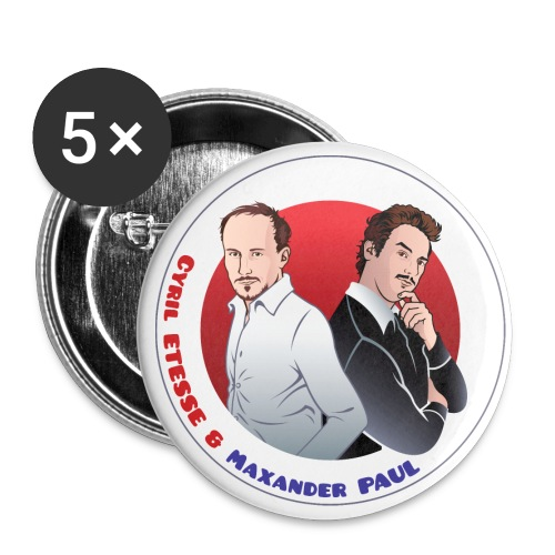 Badge Cyril et Max - Badge grand 56 mm