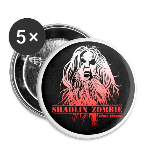 Badge Shaolin Zombies 1 - Badge grand 56 mm