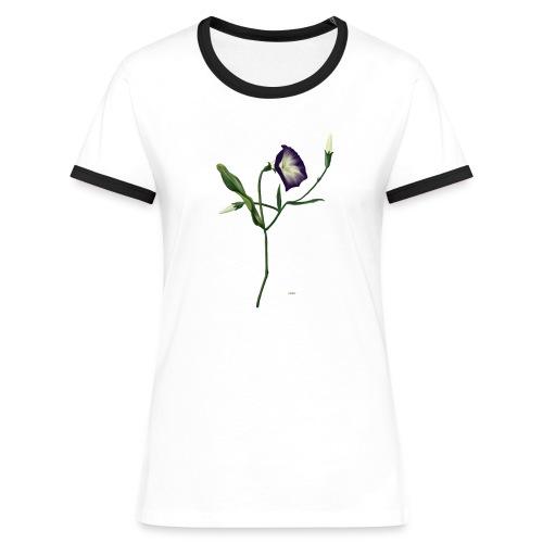 T-Shirt Flower - Frauen Kontrast-T-Shirt