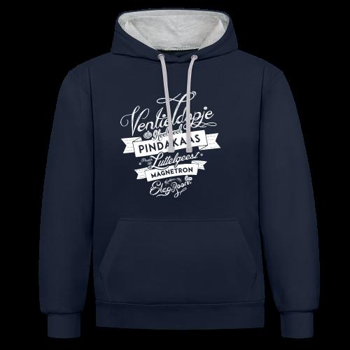 Ventieldopje unisex contrast hoodie - Contrast hoodie
