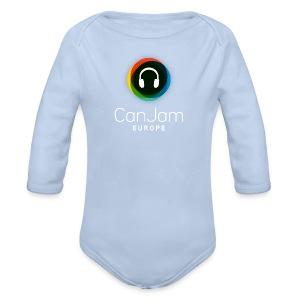 CanJam Europe - body baby (logo wt) - Organic Longsleeve Baby Bodysuit