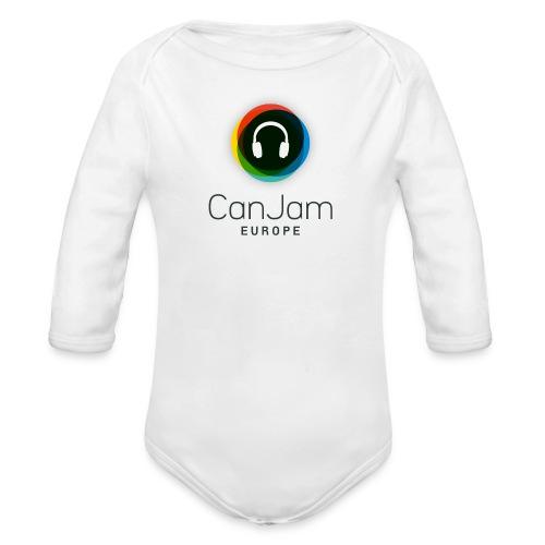 CanJam Europe - body baby (logo bk) - Organic Longsleeve Baby Bodysuit