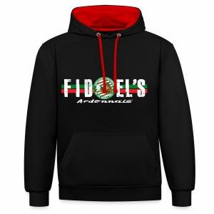 Pull Fidel's Ardennais (noir et rouge + SOA) - Sweat-shirt contraste