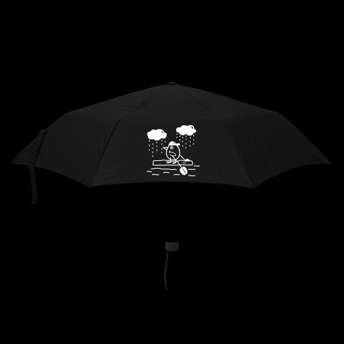 Regenschirm schwarz mit Motiv weiß - Regenschirm (klein)