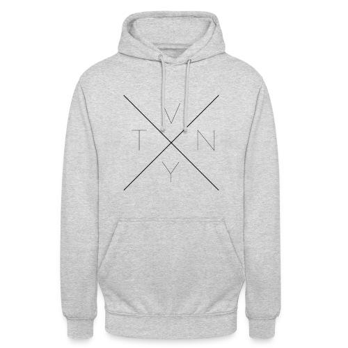 Pullover mit schwarzem V N T Y Motiv - Unisex Hoodie