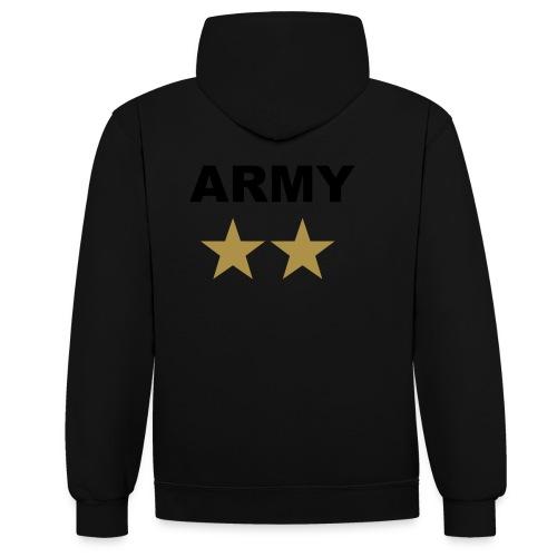 ARMY GOLD - Kontrast-hættetrøje