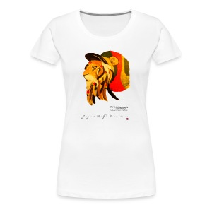 (EXCLUSIVE to FSS) Jayne Rolfe Creations - Dred Lion 3 Women's Premium T-Shirt - Women's Premium T-Shirt
