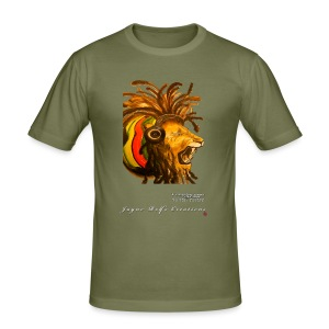 (EXCLUSIVE to FSS) Jayne Rolfe Creations - Dred Lion 4 Men's Slim Fit T-Shirt - Men's Slim Fit T-Shirt