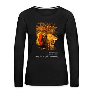 (EXCLUSIVE to FSS) Jayne Rolfe Creations - Dred Lion 4 Women's Premium Longsleeve Shirt - Women's Premium Longsleeve Shirt