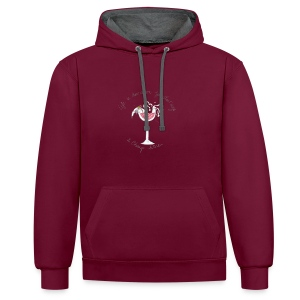 Nellie Doodles Life is too Short - Contrast Colour Hoodie