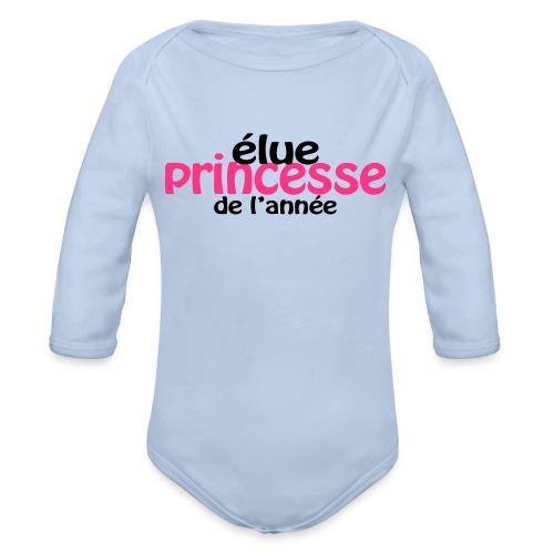 Body bébé princesse - Body bébé bio manches longues
