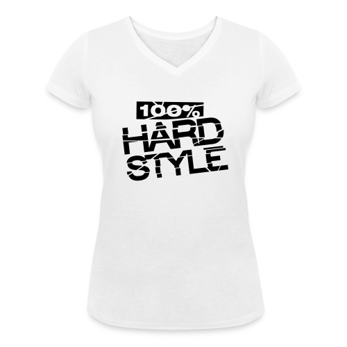100% Hardstyle - Vrouwen bio T-shirt met V-hals van Stanley & Stella