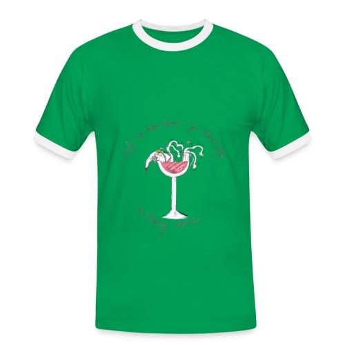 Nellie Doodles Life is too Short T shirt - Men's Ringer Shirt