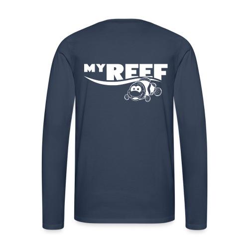 Longsleeve, Voorzijde en rug bedrukt - Mannen Premium shirt met lange mouwen