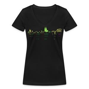 KÖLSCII - Frauen Bio-T-Shirt mit V-Ausschnitt von Stanley & Stella