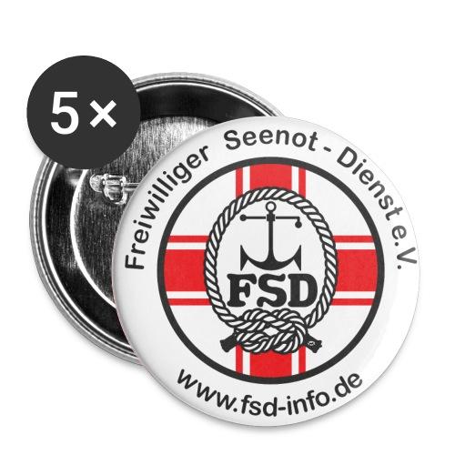 FSD Buttons oder Pin´s - Buttons groß 56 mm (5er Pack)