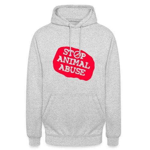 stop animal abuse - Unisex Hoodie