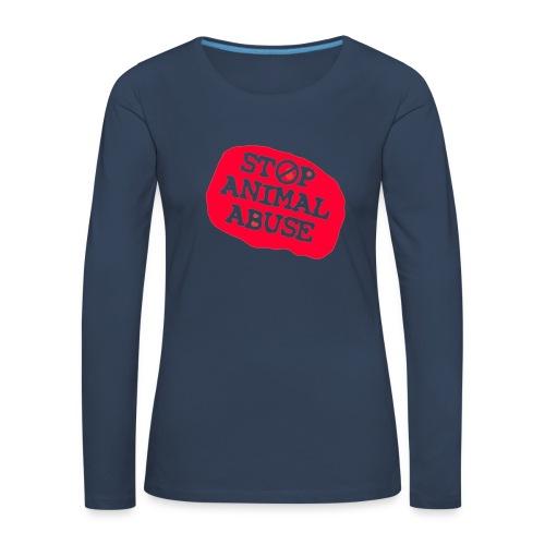 stop animal abuse - Women's Premium Longsleeve Shirt