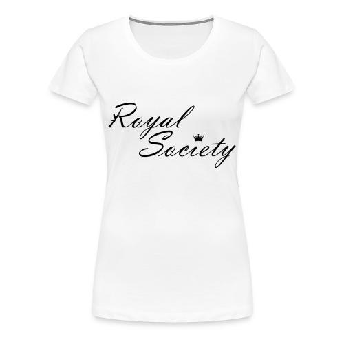Damen T-Shirt Weiß: Royal Society - Frauen Premium T-Shirt