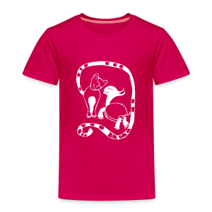 Schildkröte & Katze - Kinder Premium T-Shirt