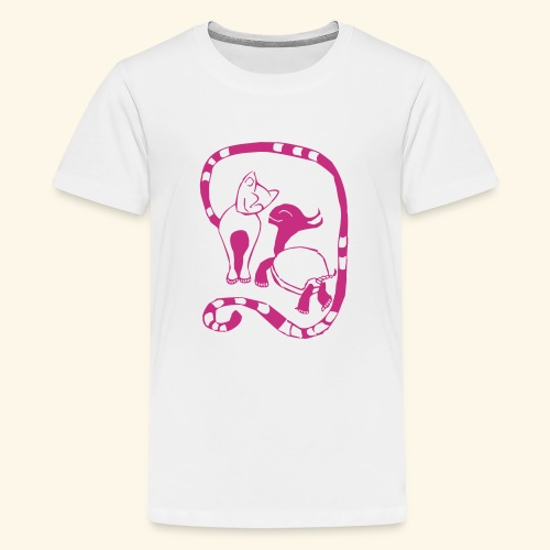 Schildkröte & Katze - Teenager Premium T-Shirt