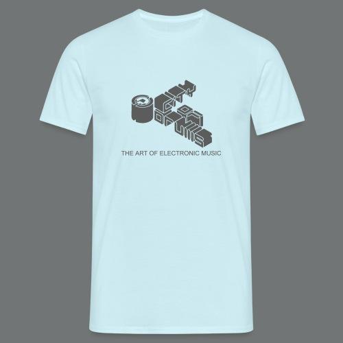 Männer-Shirt City of Drums Logo  Skyblau/Dunkelgr - Männer T-Shirt