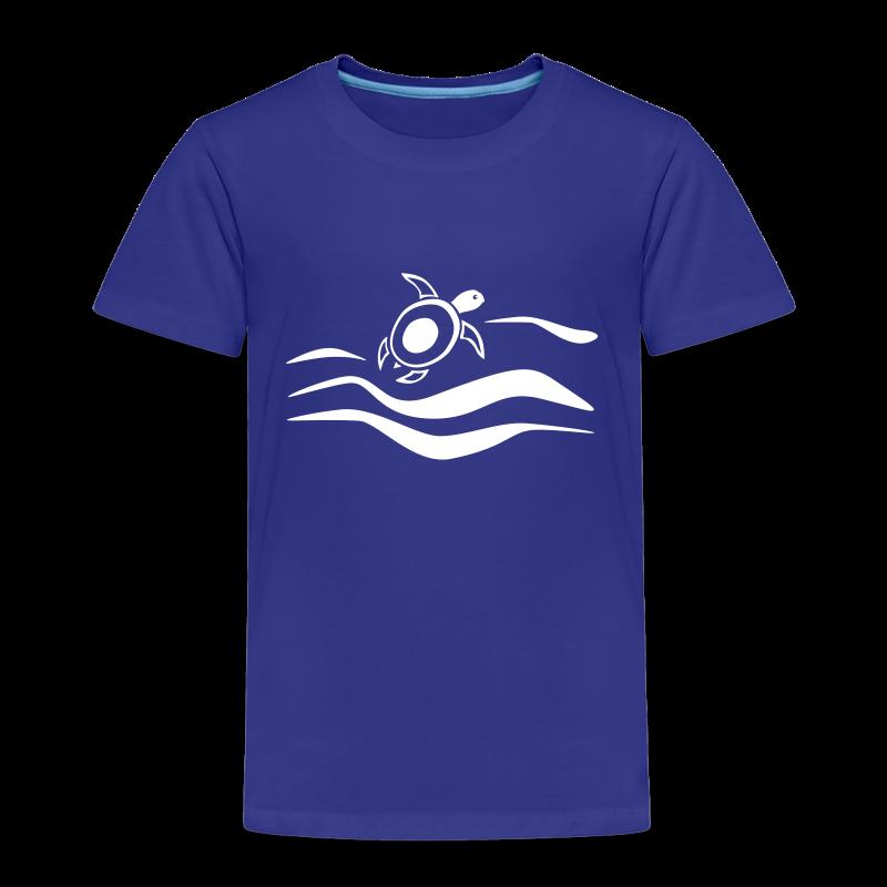 Sea Turtle in den Wellen - Kinder Premium T-Shirt