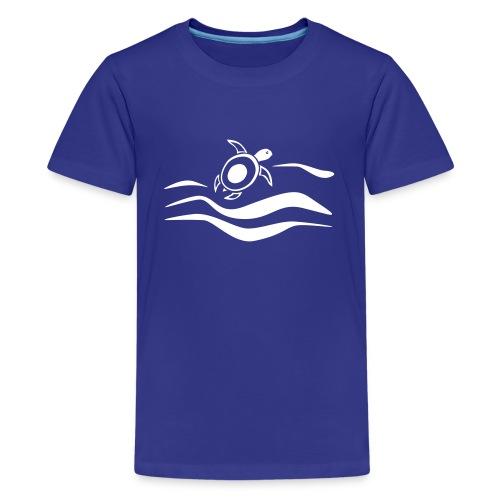 Sea Turtle in den Wellen - Teenager Premium T-Shirt