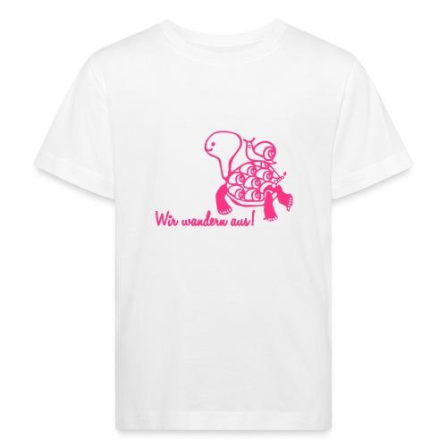 Wir wandern aus! - Kinder Bio-T-Shirt