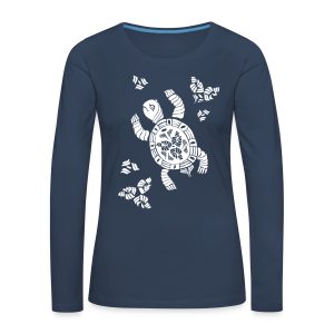Indian Turtle  - Frauen Premium Langarmshirt