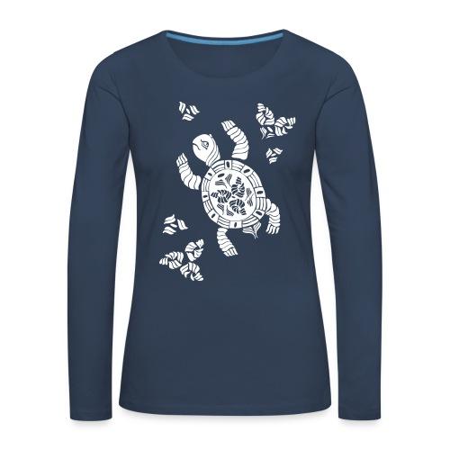 Indian Turtle  - Frauen Premium Langarmshirt