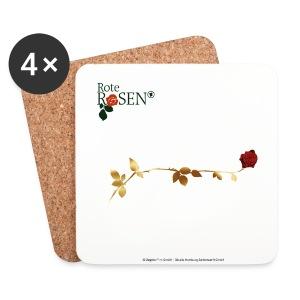 Rote Rosen - Untersetzer Goldene Rose - Untersetzer (4er-Set)