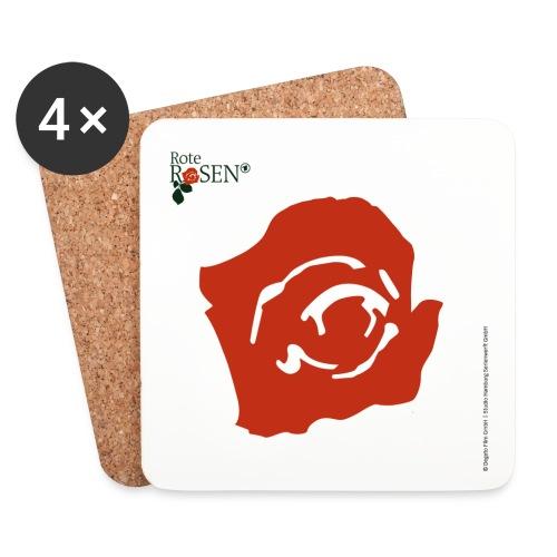 Rote Rosen - Untersetzer Rote Blüte - Untersetzer (4er-Set)