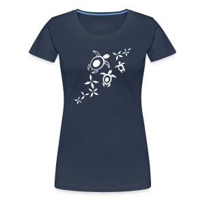 blumige Meeresschildis T-Shirt - Frauen Premium T-Shirt