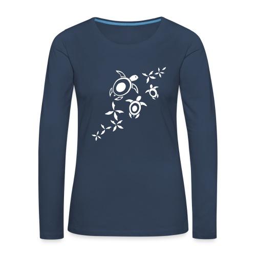 blumige Meeresschildis  - Frauen Premium Langarmshirt