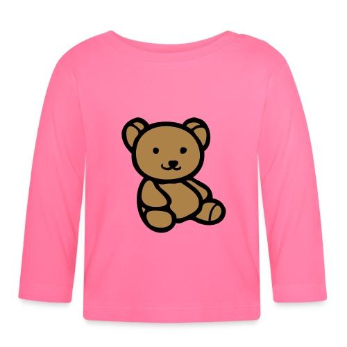 Baby tröja(långärmad) med nalle - Långärmad T-shirt baby