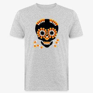 Halloween Candy Corn Skull by patjila - Men's Organic T-shirt