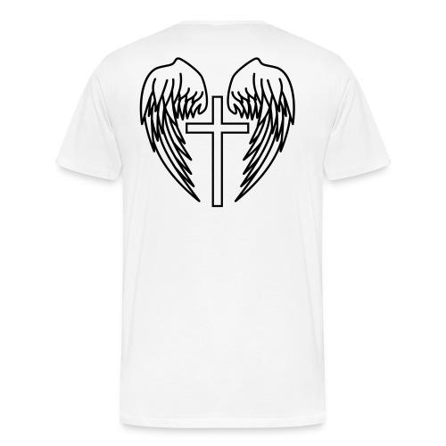 T-shirt med kors - Premium-T-shirt herr