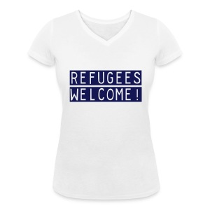 Refugees Welcome! - Vrouwen bio T-shirt met V-hals van Stanley & Stella