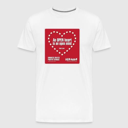 Open heart Men Tshirt - Herre premium T-shirt