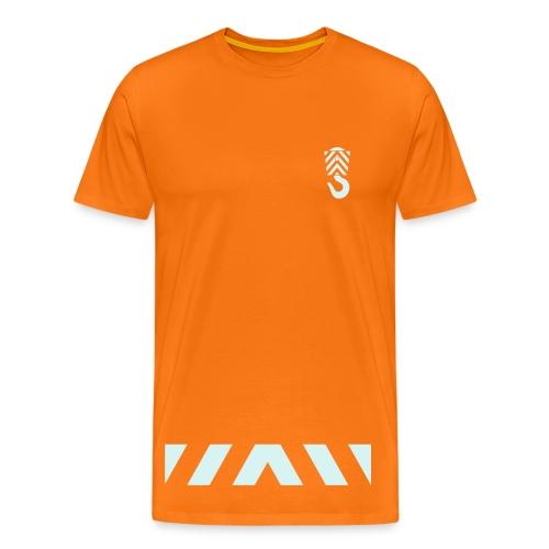 Arbeits- Shirt Abschleppdienst Marke Spreadshirt Druck silber reflektierend - Männer Premium T-Shirt
