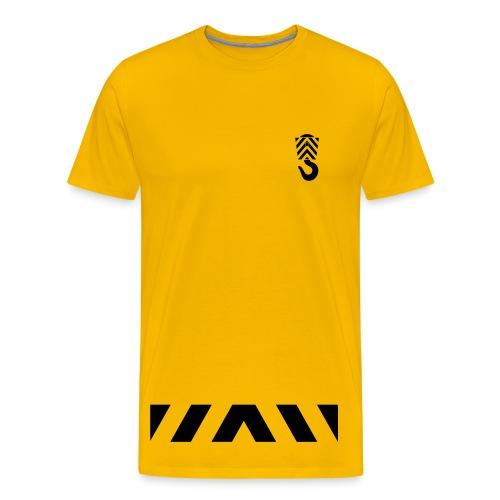 Arbeits- Shirt Abschleppdienst Marke Spreadshirt Druck schwarz - Männer Premium T-Shirt