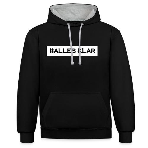 #ALLESKLAR  Crew Hoodie (Unisex) - Kontrast-Hoodie