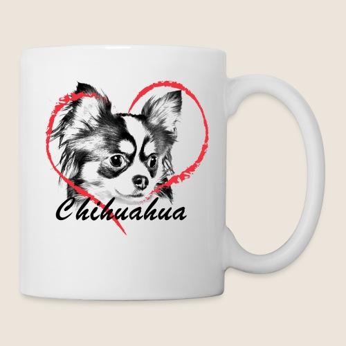 Chihuahua mit Herz - Tasse