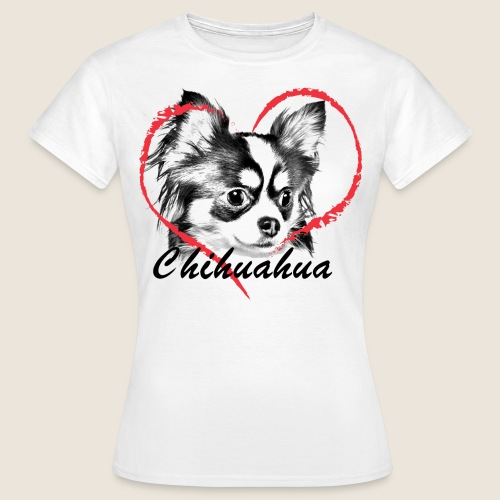 Chihuahua mit Herz - Frauen T-Shirt