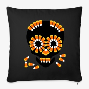 Halloween Candy Corn Skull by patjila - Sofa pillow cover 44 x 44 cm