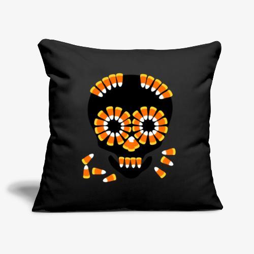 Halloween Candy Corn Skull by patjila - Sofa pillowcase 17,3'' x 17,3'' (45 x 45 cm)