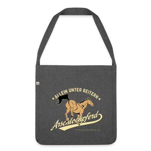 Arschlochpferd Tasche - Schultertasche aus Recycling-Material