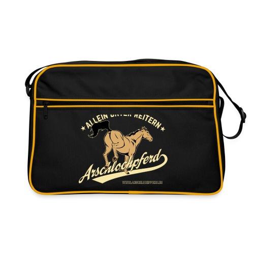 Arschlochpferd Tasche - Retro Tasche